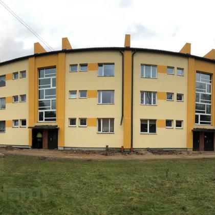 """""""Daudzdzīvokļu dzīvojamās ēkas fasādes vienkāršotā atjaunošana"""", Rīgas iela 33 Vecumnieki"""